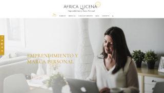Desarrollo Web realizado a Africa Lucena