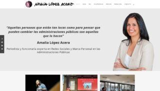 Desarrollo Web realizado a Amalia Lopez Acera