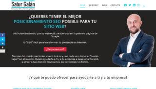 Desarrollo Web realizado a Satur Galan
